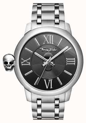 Thomas Sabo Mens rebelle avec karma montre de crâne en acier inoxydable WA0304-201-203