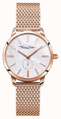 Thomas Sabo Womens glam esprit rose or bracelet en maille ton blanc cadran WA0303-265-213-33