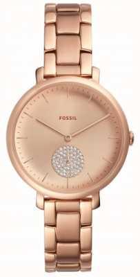 Fossil Femme Jaqueline bracelet en or rose montre cadran simple ES4438