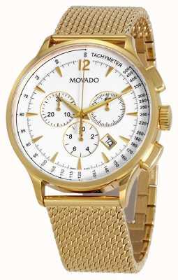Movado Bracelet chronographe plaqué or pour homme 0607080