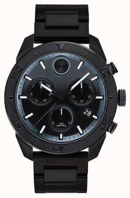 Movado Mens gras noir ip plaqué chronographe sport 3600514