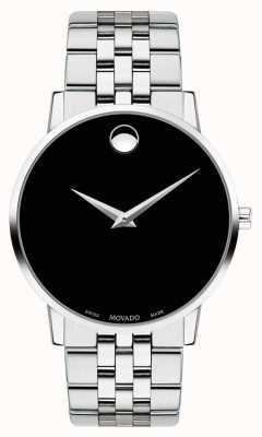 Movado Bracelet en acier inoxydable cadran noir homme 0607199