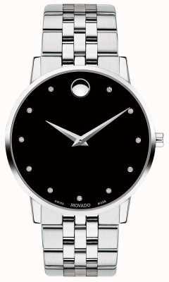Movado Bracelet à diamants en acier inoxydable pour homme 0607201