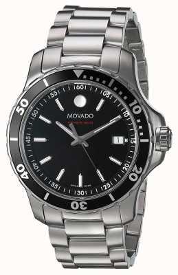 Movado Série Mens 800 en acier inoxydable cadran noir 2600135