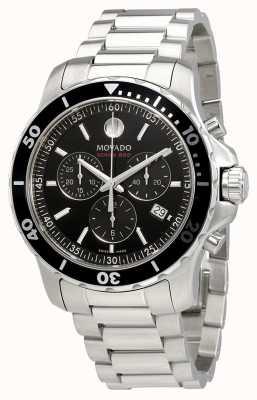 Movado Série Mens 800 chronographe en acier inoxydable cadran noir 2600142