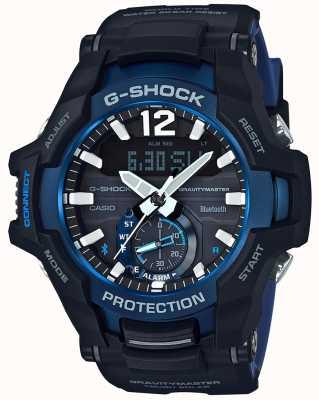 Casio G-shock gravitymaster bluetooth solaire noir / bleu en caoutchouc GR-B100-1A2ER
