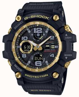 Casio Bracelet en caoutchouc noir doré par G-shock radio-commandé GWG-100GB-1AER