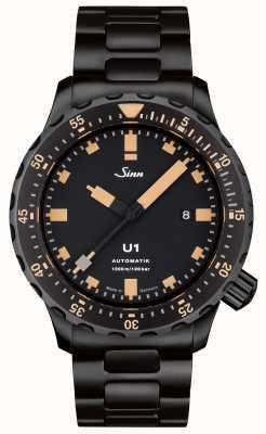 Sinn U1 soi bracelet noir montre tegiment 1010.023 BRACELET