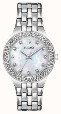 Bulova Montre-bracelet en cristal pour femme et pendentif 96X144
