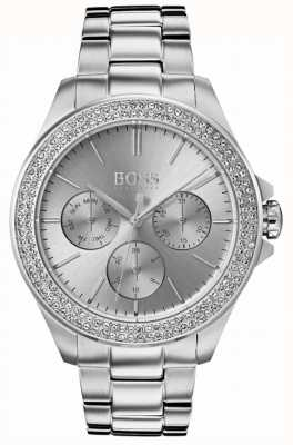 Hugo Boss Womens premiere set de cristal en acier inoxydable 1502442