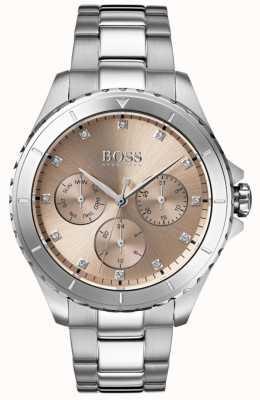 BOSS Bracelet en acier inoxydable avec cadran en bronze pour femmes 1502444