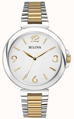 Bulova Montre à deux tons en acier inoxydable pour femme 98L194