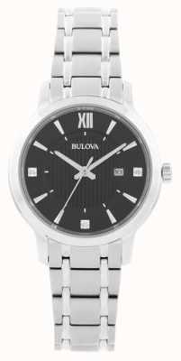 Bulova Montre habillée en acier inoxydable pour femme 96P185