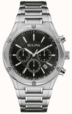 Bulova Montre chronographe pour homme en acier inoxydable 96B247