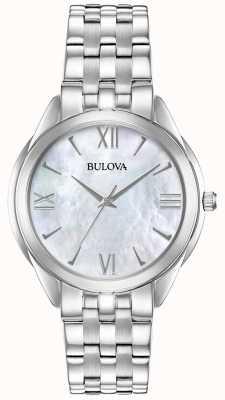 Bulova Montre à cadran en nacre pour femme en acier inoxydable 96L268