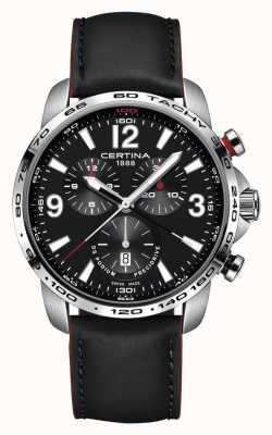 Certina Mens ds podium chronographe bracelet en cuir noir cadran noir C0016471605701
