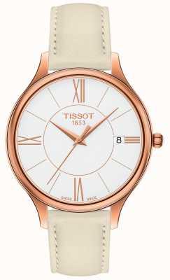 Tissot Bracelet en cuir gris Bella Ora pour femme T1032103601800