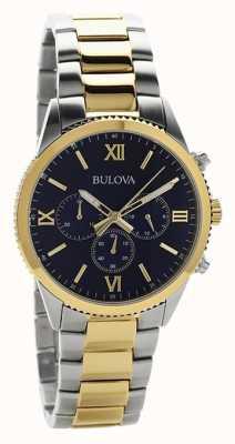 Bulova Montre chronographe deux tons femme 98A220