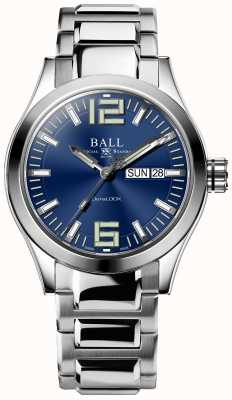 Ball Watch Company Engineer III King Cadran bleu 43 mm avec bracelet en silicone noir NM2028C-L13A-BE-SILICONE