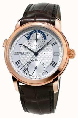 Frederique Constant Fabrication hybride 3.0 bracelet smartwatch automatique marron FC-750MC4H4