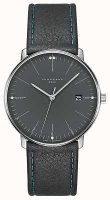 Junghans Max facture en cuir gris méga mf 058/4823.00