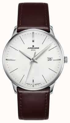 Junghans Meister mega mf bracelet en cuir marron 058/4800.00