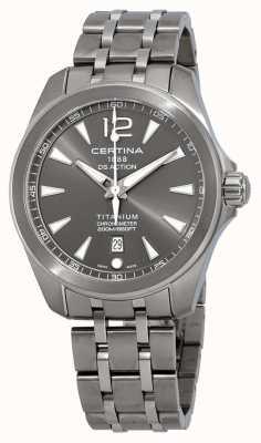 Certina Montre ds action pour homme cadran gris bracelet titane C0328514408700
