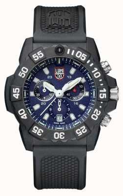 Luminox Navy seal 3580 chronographe bleu / blanc avec bracelet en PU XS.3583