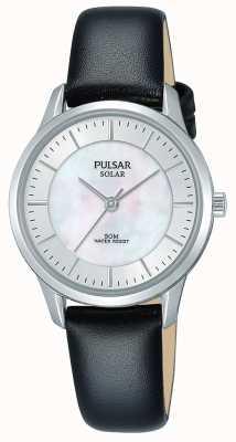 Pulsar Mesdames boîtier en acier inoxydable solaire nacre cadran PY5043X1