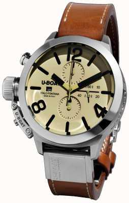 U-Boat Classico 45 tungsteno cas2 / un bracelet en cuir marron automatique 7431/A