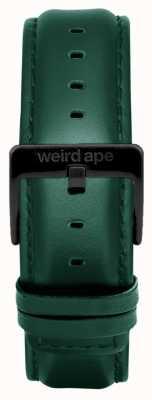 Weird Ape Bracelet cuir noir foncé 20mm boucle noire ST01-000075