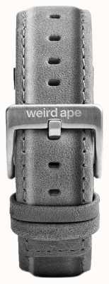 Weird Ape Bracelet en daim gris ardoise 20mm boucle argentée ST01-000016