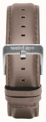 Weird Ape Bracelet en cuir noisette de 20 mm boucle argentée ST01-000101