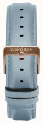 Weird Ape Bracelet en cuir bleu poudre 16mm boucle en or rose ST01-000029