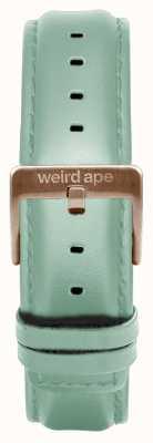 Weird Ape Bracelet en cuir vert menthe 16mm boucle en or rose ST01-000042