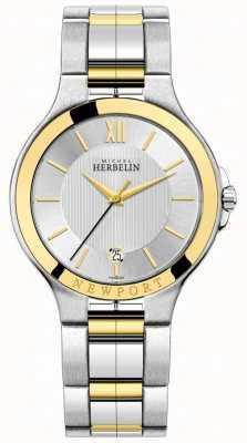 Michel Herbelin Bracelet en argent et or bicolore pour homme newport royale 12298/BT11