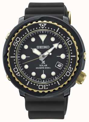 Seiko Montre de plongée Prospex solaire thon noir et or pour homme SNE498P1