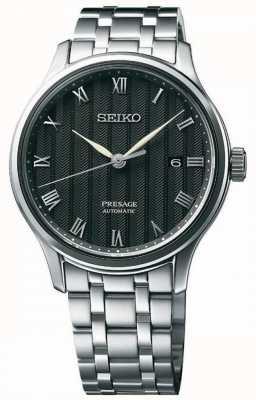 Seiko Bracelet en acier inoxydable pour cadran noir SRPC81J1