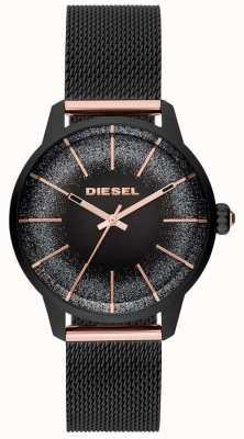 Diesel Bracelet maille femme en or rose et rose DZ5577