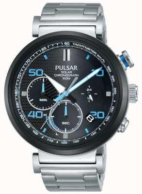 Pulsar Montre chronographe solaire en acier inoxydable pour homme PZ5065X1