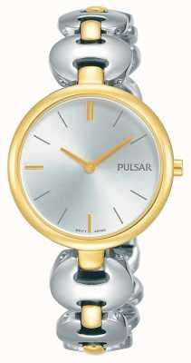 Pulsar Montre femme en or deux tons avec bracelet en argent PM2264X1