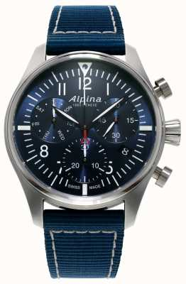 Alpina Homme chronographe pilote chronographe quartz bleu AL-371NN4S6