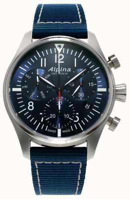 Alpina Chronographe homme startimer pilot quartz bleu AL-371NN4S6