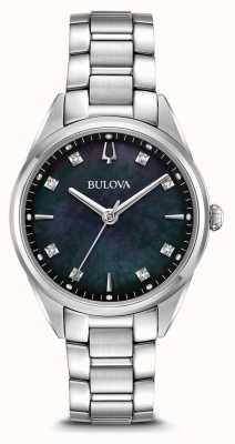 Bulova Montre sutton classique pour femme cadran en nacre noire 96P198