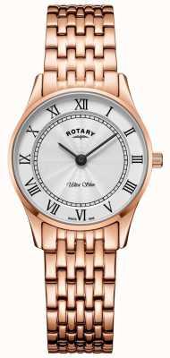 Rotary Montre bracelet ultra-fine en or rose pour femme LB08304/01
