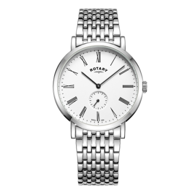 Rotary Montre bracelet compensée en acier inoxydable windsor pour homme GB05310/01