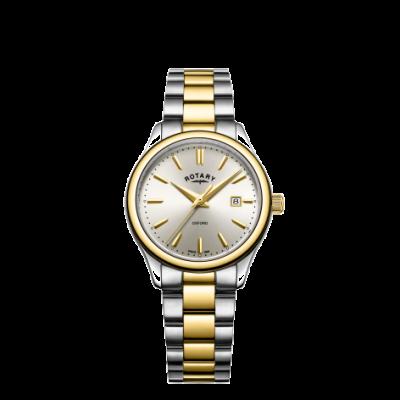 Rotary Montre à bracelet en or bicolore en argent pour femme LB05093/03