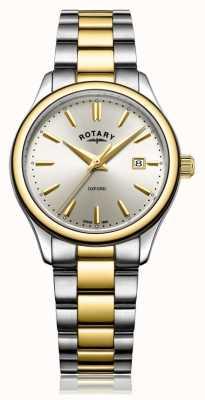 Rotary Montre bracelet oxford bicolore pour femme, argent et argent LB05093/03