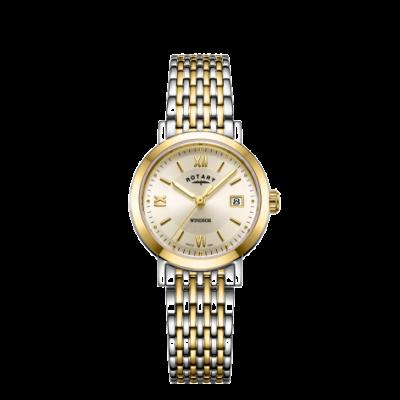 Rotary Montre bracelet pour femme en or et argent LB05301/09
