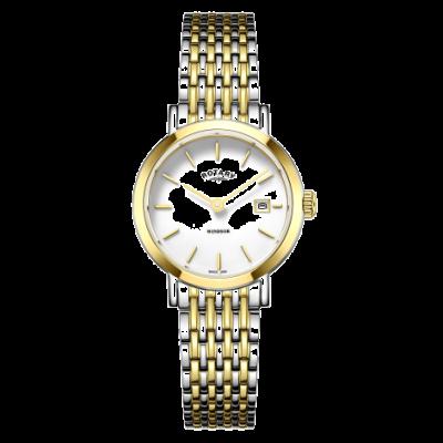 Rotary Montre bracelet pour femme en or et argent LB05302/01
